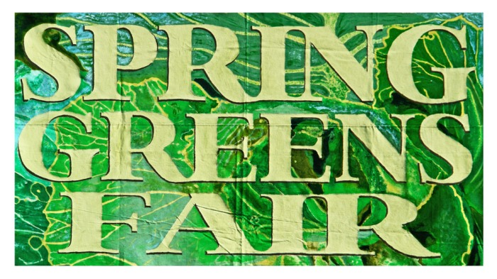 Spring Greens Banner painted sm