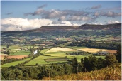 The Black Mountains from Llangoed Common by Angela Bonner
