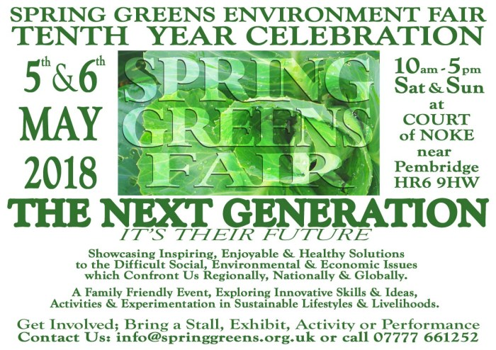 Spring Greens 2018 - The Next Generation